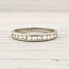 Erstwhile Jewelry Co. | Vintage Signed TIFFANY & CO. Wedding Band Circa 1949