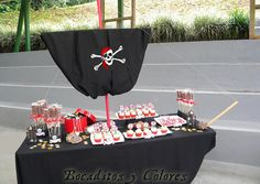 Pirate dessert table by Bocaditos y Colores (Erika), via Flickr