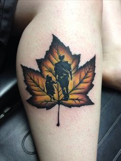 Canadian Maple Leaf Tattoo