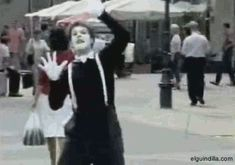 This mime is for real