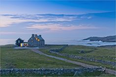 William Tunnell of WT Architecture   Maclean-Bristol's house on the Isle of Coll in Scotland, built in the ruins of a house abandoned 150 years earlier (photo by Michael Harding for the nytimes)