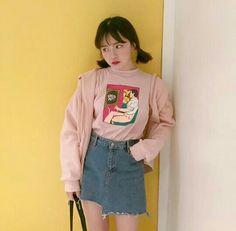 ☁️Korean Fashion Pink t-shirt☁️ @oliwiasierotnik