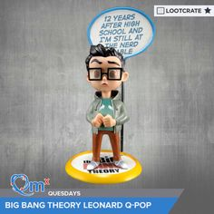 I'm entered to win a Big Bang Theory Leonard Hofstadter Q-Pop figure courtesy of QMx & Loot Crate! #QMxQuesdays