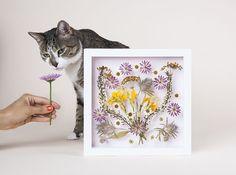 DIY Pressed Flower Wall Art