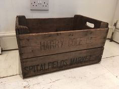 Crate Trug Cornwall Post Office Sorting Box Vintage Antiqued Wooden Box