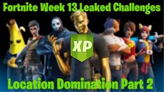Fortnite Leaked Challenges – Week 13 Location Domination XP Rewards Part 2 Challenge Week, Chapter 3, Epic Games, Location, Challenges, Zombie Girl, Gaming Wallpapers