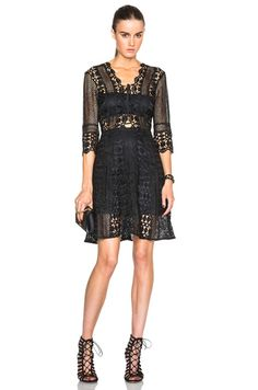 c456ee9459b4 Shop for self-portrait A-Line Lace Up Dress in Black at FWRD. Free 2 day  shipping and returns.