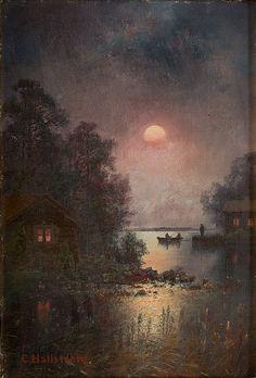 Carl Axel Thure Hallström (1850-1929) - шведский художник- пейзажист