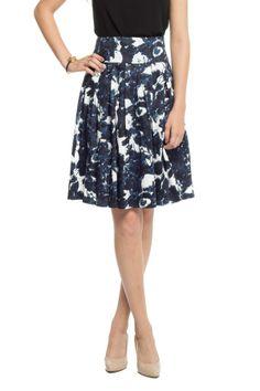 Floral Ink Skirt