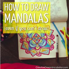 How To Draw Mandalas (even if you can't draw)