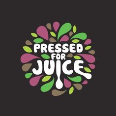 Logo design by bo_rad for cold pressed juice company. Bubble typeface combines with colorful fruit pulp. #branding #logo #typography