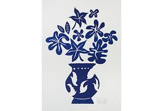Marco Del Re, Vase IV Bleu on OneKingsLane.com. Poster 31x41