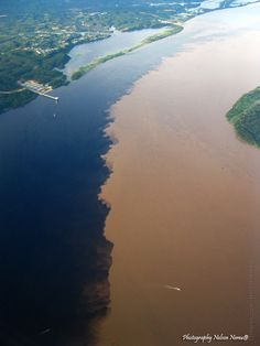 "In Belem (Brazil) you can visit by boat the famous ""meeting of the waters "",mean,the meeting between the Black River and the Solimoes river"