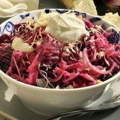 salát z červené řepy Cabbage, Salads, Food And Drink, Beef, Vegetables, Milan, Anna, Image, Recipes
