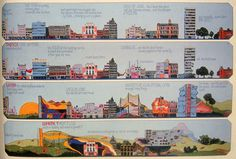 Archigram | Peter Cook | The metamorphosis of our Town [Cheek By Jowl] | 1970