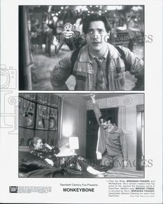 "1991 Press Photo ""Monkeybone"" Bridget Fonda & Brendan Fraser 