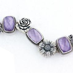 Lavender Floral Bracelet -Lori Bonn Design -Bonn Bons
