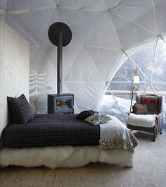 Dome Glamping ~ Whitepod Resort, Switzerland (image from Whitepod)