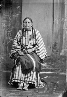 Magpie (the daughter of Black Kettle, and the wife of George Bent) - Southern Cheyenne - 1880