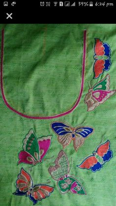 Zardozi Embroidery, Kurti Embroidery Design, Hand Embroidery Designs, Embroidery Patterns, Kids Blouse Designs, Kurta Designs, Hand Work Design, Back Neck Designs, Embroidery On Clothes