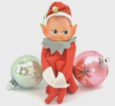 Vintage Christmas Elf Knee Hugger Pointy Ears