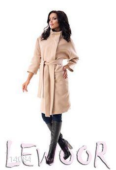 Модное пальто прямого покроя, рукав 3/4 - купить оптом и в розницу, интернет-магазин женской одежды lewoor.com