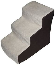 Pet Gear Easy Step III Deluxe Soft 3-Step Pet Stairs for Pets Up to 150-Pound, Oatmeal/Chocolate -- More info could be found at the image url.