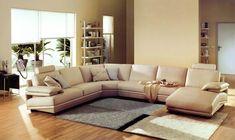2612 Modern Beige Leather Sectional Sofa - Modern Sofas - Living Room