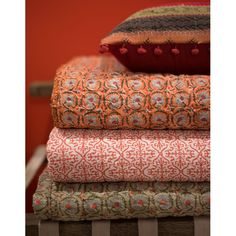 Printed and quilted bedspreads