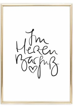 Im Herzen Barfuß, Poster Scandinavian Wall Art Plotter Silhouette Cameo, Poster Art, Art Quotes, Quotes Inspirational, Life Quotes, Hand Lettering, Lettering Brush, Printable Wall Art, Cool Words