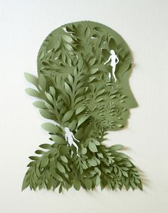 Cut Paper Sculptures and Illustrations by Elsa Mora