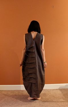 custom linen bottle spiral dress by annyschooecoclothing