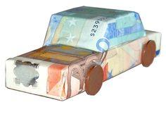 Geldgeschenk Auto selbst basteln