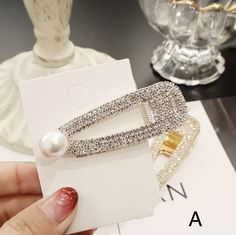 Pearl Hair Clip Snap Hair Barrette Stick Hairpin Hair Styling Accessories For Women Girls 2019 New Fashion Women Wedding Party Hair, Pearl Hair, Hair Barrettes, Couture, Silver Pearls, Hair Jewelry, Fashion Jewelry, Hair Pins, 1 Piece