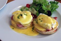 The Eggs Benedict at Borage was traditional in the best possible way. The English muffins were fluffy, warm, moist, and lightly toasted. Atop the muffins was a folded slice of ham, a softly poached egg, and the perfect amount of Hollandaise. The Hollandaise was light and smooth with a strong taste of lemon. Borage Brunch in Cape Town, South Africa.