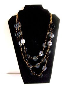 Ethnic Coconut Shell Necklace - Brand New  Handmade New Style BLACK (G-113)