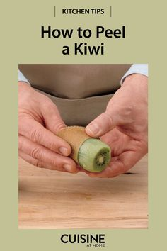 So much work goes into peeling a kiwi with a paring knife or peeler—and often it leaves the flesh of your kiwi torn or misshapen. Here's a simple tip for how to peel kiwi with a spoon. Skewer Recipes, Healthy Salad Recipes, Healthy Drinks, Fun Cooking, Cooking Tips, Cooking Recipes, How To Cut Kiwi, Fruity Alcohol Drinks, Alcoholic Drinks
