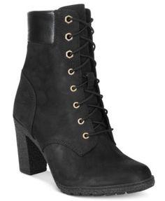 "Timberland Women's Glancy 6"" Lace-Up Boots | macys.com"