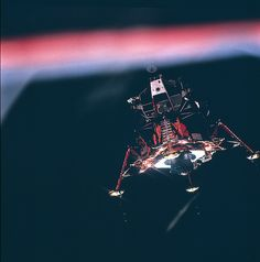 Lunar Module Eagle Upon Descent to the Moon