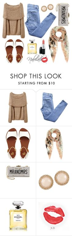 Untitled #14 by nabilach on Polyvore featuring 7 For All Mankind, 2b bebe, Kate Spade, ALDO, Accessorize, MAC Cosmetics, Chanel and xO Design