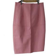 Leather Skirt Women 2016 High Waist Pencil Skirt Women Fashion Women Slim Skirts Sexy Skirts Ladies Faux Leather Woman Pink Blue