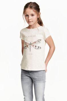 haut en jersey imprimé | H & M