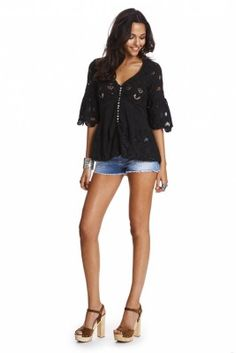 FREE-FLOW BLOUSE ALMOST BLACK