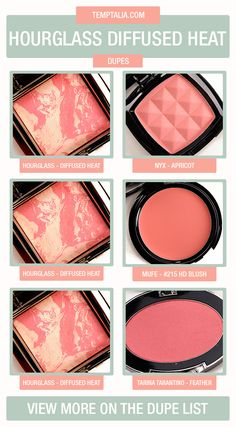 Hourglass Diffused Heat Dupes & Comparisons