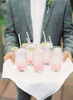 Blush pink drinks: http://www.stylemepretty.com/2015/12/03/pantone-2016-rose-quartz-serenity-wedding-inspiration/: