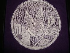 Anita Hansen p/b Arlene Cohen Bobbin Lacemaking, Bobbin Lace Patterns, Point Lace, Lace Making, String Art, Vintage Lace, Butterfly, Embroidery, How To Make