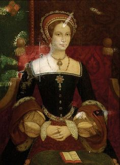 Queen Mary I, (1516 - 1558), queen of England from 1553, the daughter of King Henry VIII and Catherine of Aragon.