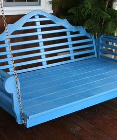 I want one of these!  Look at this #zulilyfind! Carribean Blue Marlboro Porch Swing by A&L Furniture #zulilyfinds