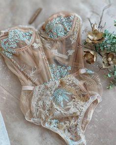 Handmade lingerie from Rara Avis Group. Handmade lingerie from Rara Avis Group. Lingerie Mignonne, Jolie Lingerie, Lingerie Outfits, Sheer Lingerie, Pretty Lingerie, Beautiful Lingerie, Lingerie Set, Wedding Lingerie, Elegant Lingerie