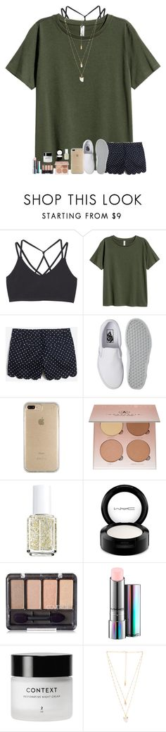 """""""goodnight loves"""" by classyandsassyabby ❤ liked on Polyvore featuring MANGO, Vans, Speck, Anastasia Beverly Hills, Essie, MAC Cosmetics, Natalie B, Summer, gold and vans"""